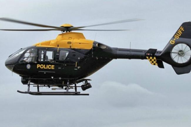 A police helicopter was involved in a search and rescue operation after a car was trapped in flood waters this weekend.