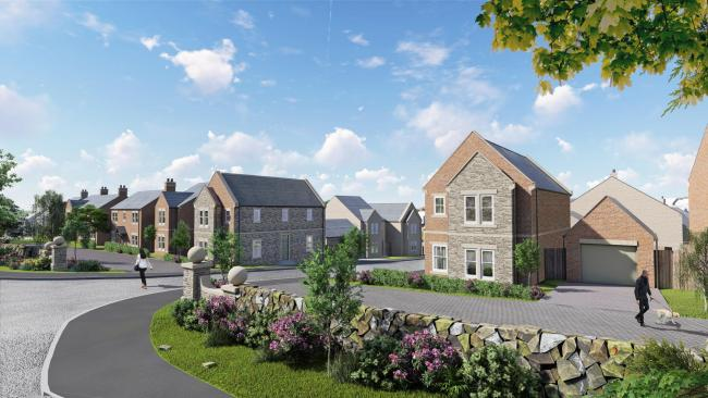 An artists impression of what the new Haltwhistle development will look like if built. Credit: Beam Group.