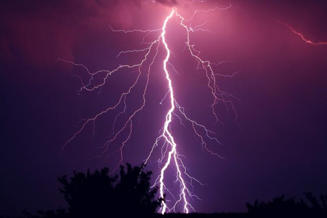A yellow weather warning is in place on Thursday for thunderstorms. Photo: Pixabay