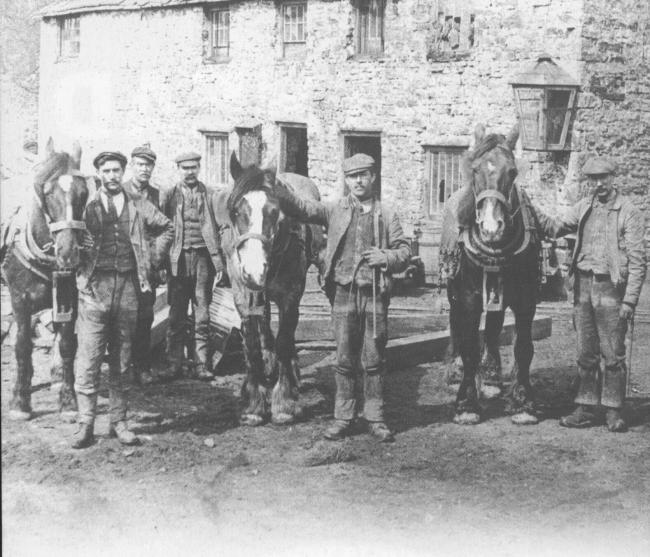These miners and their pit ponies were pictured at Nenthead Mines in the 1880s.