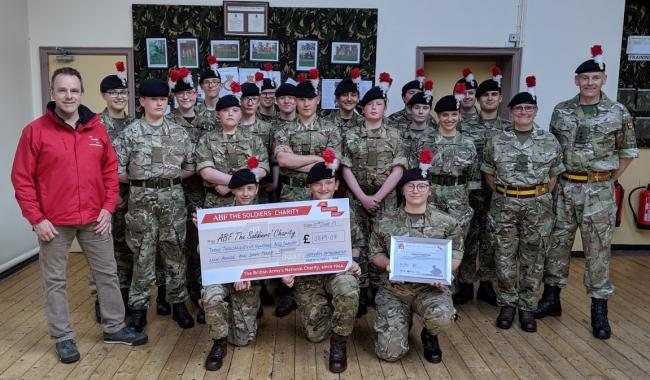 Hexham cadets, winners of the Revision Trophy, are pictured with Barney Barnbrook, ABF's The Soldier Charity's regional director for the North-East and Yorkshire (far left) and Hexham Detachment's Sgt Sue Hills and Lt Sean Ferguson (far