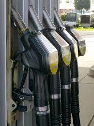 Petrol pumps.
