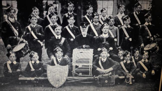 Members of The Boys Brigade from St Andrew's Church, Corbridge, pictured some time between 1900 and 1910. Photo: CORBRIDGE OF YESTERDAY