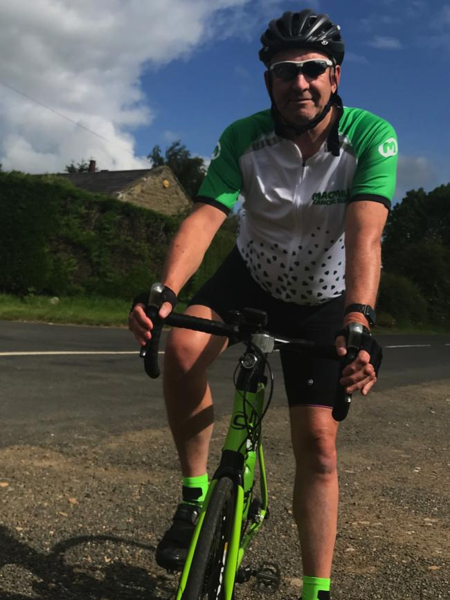 Graham Taylor is cycling 250 miles to raise money for MacMillan in memory of his wife, Elaine.
