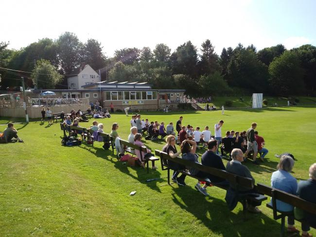 Crowds attending Sunday's West Tyne Cricket League finals.
