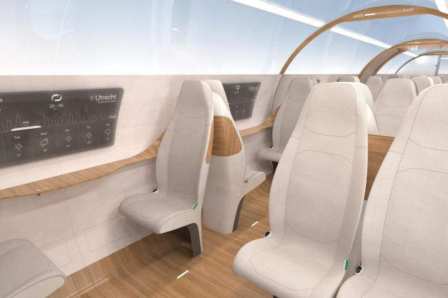 Interior of the Delft Hyperloop III concept