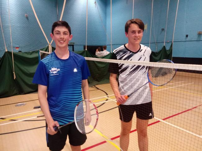 Tim Bodani (left) and James Dodd are two of the talented youngsters working with badminton coach Phil Hall at Ponteland.