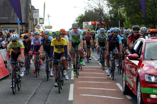 The Tour of Britain gets under way in Prudhoe in 2015.