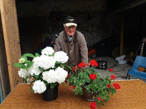 Tom Speir at last year's open garden afternoon at East Deanraw Farm.