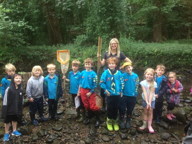 1st Stocksfield Beavers celebrate receiving their Bronze Chief Scout's Award