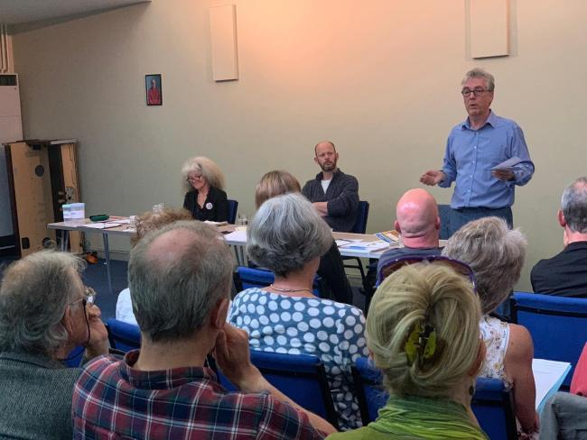 The climate change meeting was hosted by the Hexham Branch of the Labour Party.