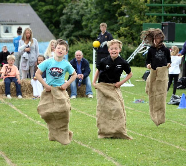 Sack race at the Stamfordham Village Fair. D2810100 50008106H000.jpg