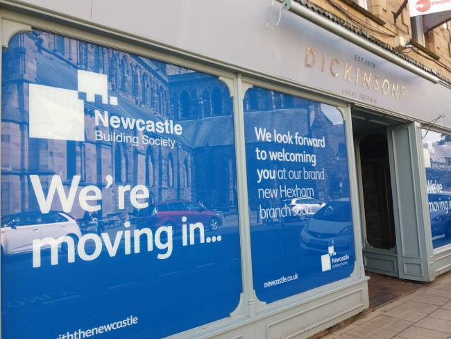Newcastle Building Society has announced it is to move into the former Dickinson's building, in Hexham.