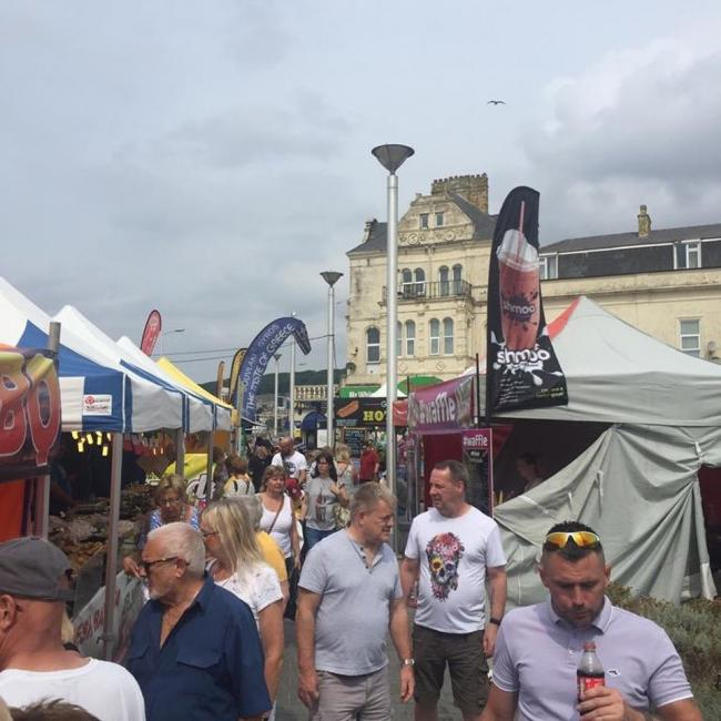 The Continental Street Market, during its visit to Weston-super-Mare.