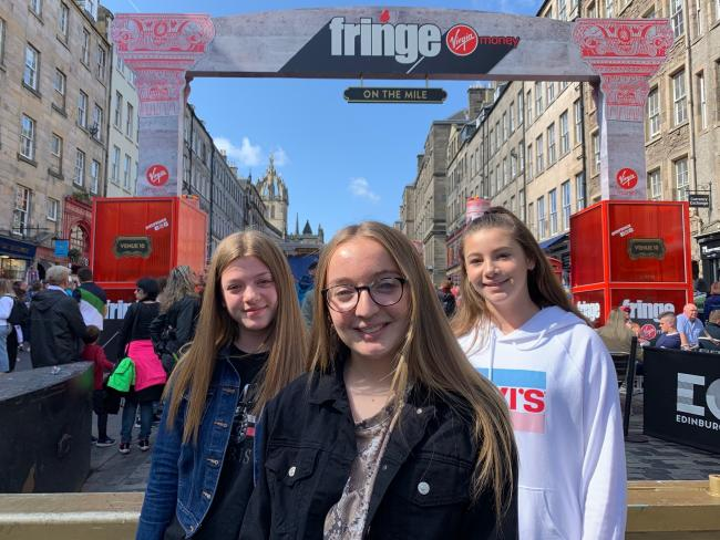 From the left, Cramlington's Ellie Clark, Katie Carruthers, and Brooke Armstrong, who starred in The Life of Reilly at the Edinburgh Fringe Festival.