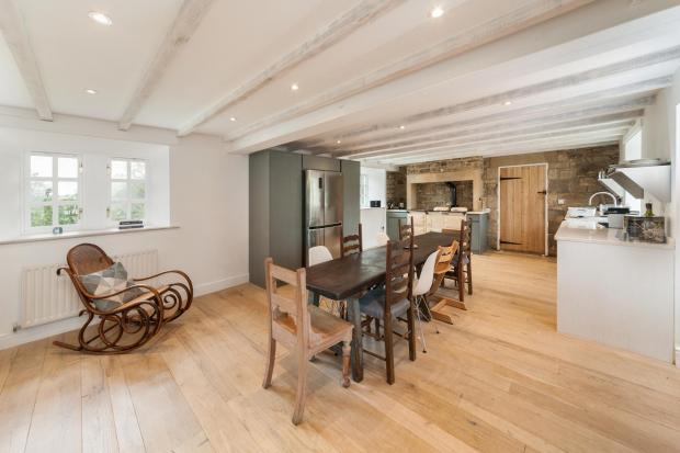Old Farm in Slaley has high-quality style throughout including luxury bespoke kitchen, top-end bathroom suites and travertine wall and floor tiles. Externally are more than seven acres with garden, woodland, stream, meadow and double garage block
