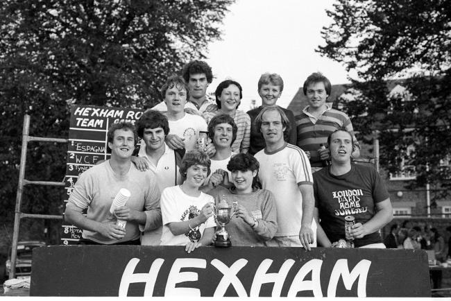 Stamfordham Young Farmers made 1982's 'It's a Knockout' competition at Hexham Town Fair their own by winning both first and second places.
