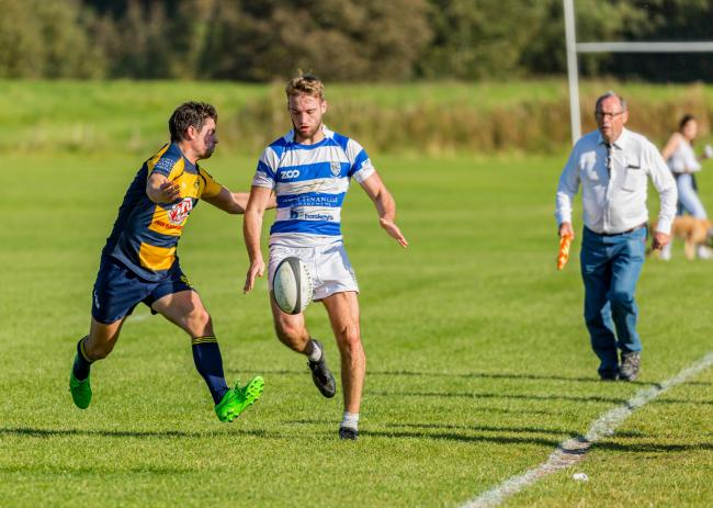 Influential fly half Callum Morrell scored two tries for Tynedale Centurions against Northern Panthers.         Photo: BARBARA AUSTIN
