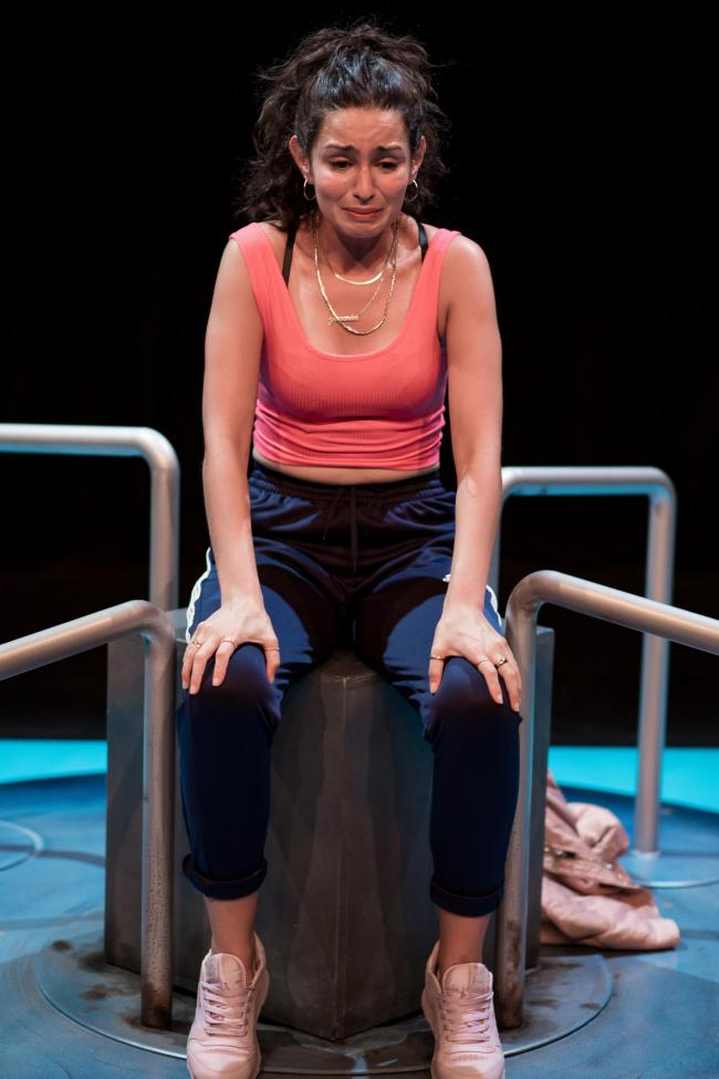 Build A Rocket comes to the Queen's Hall in Hexham in September 2019. Serena Manteghi is pictured as Yasmin. Photo: SAM TAYLOR