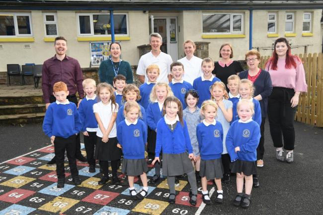 Gilsland Primary School celebrate joining the good shepherd multi academy trust. Photo: HX401988. KATE BUCKINGHAM