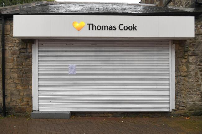 The closed Thomas Cook branch in Prudhoe. 			       Photo: HX401984