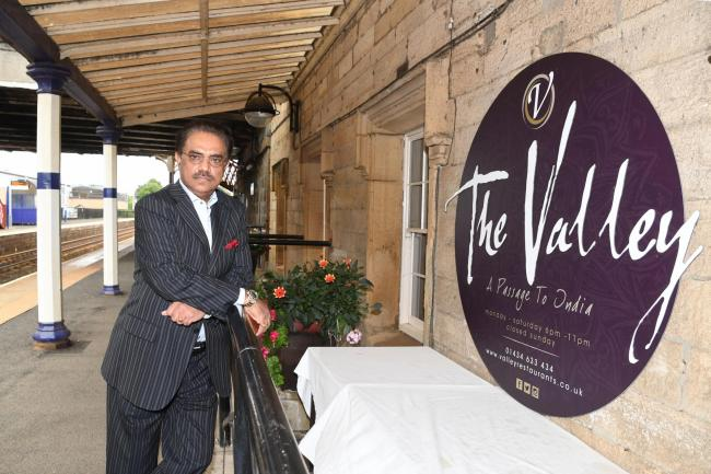 Daraz Aziz, owner of The Valley Indian restaurant in Corbridge.