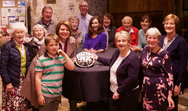 The judges of the Great Corbridge Bake Off, included BBC's Carol Malia (fifth from the left).                                                 Photo: IAN WYLIE
