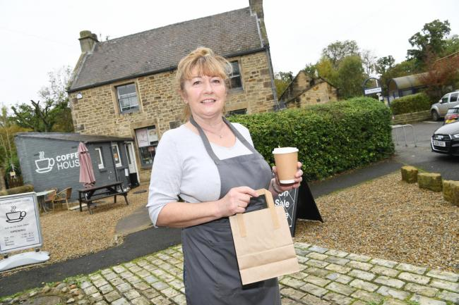 Christine Trueman, co-owner of The Station Coffee House at Riding Mill, believes a blanket ban on food and drink on public transport – except water – would be impossible to police. 				        Photo: HX431938
