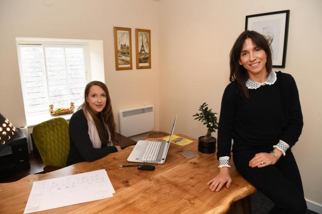Sarah Harrison with Vanessa Beaumont in the office space on the South Acomb business park.            Photo: HX441935