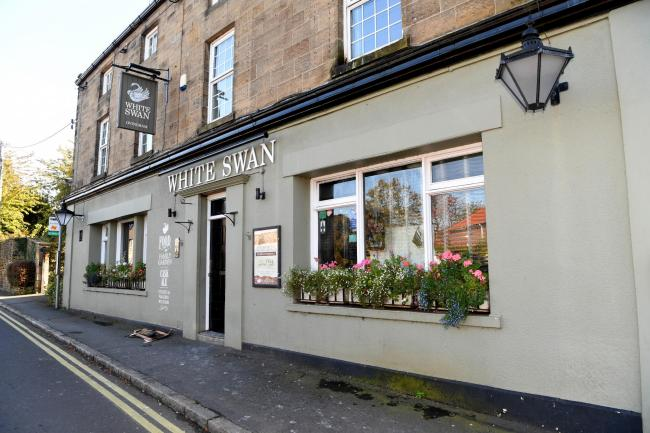 White Swan, in Ovingham, which has closed after a fire.