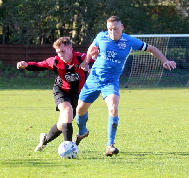 Haltwhistle Jubilee skipper Mark Robson was named man of the match after his goalscoring performance at Gateshead.