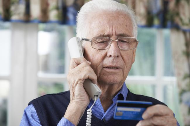 Elderly people often fall victim to telephone fraud where criminals encourage them to share their personal details.