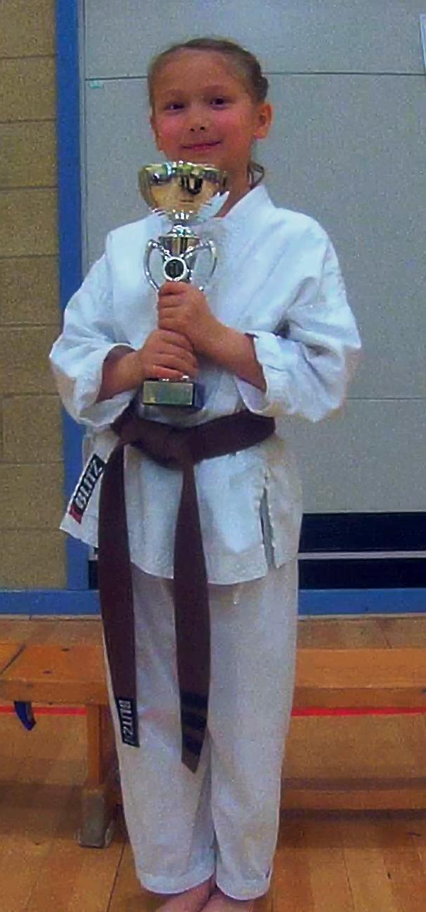 Islay Faye Appleby has gained her black belt in karate.