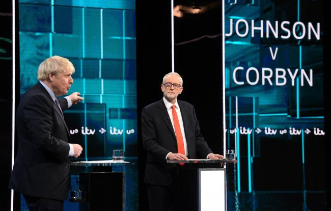 Boris Johnson and Jeremy Corbyn were accused of providing 'misinformation' during ITV's leadership debate. 					           Photo: ITV/PA WIRE