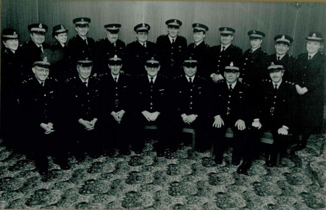 A group of Northumbria Police Special Constables in 1993. This picture was sent in by Susan Garcia (top row, second from right) to remember PC Ronnie Metcalf (bottom row, far left), who died earlier this year.