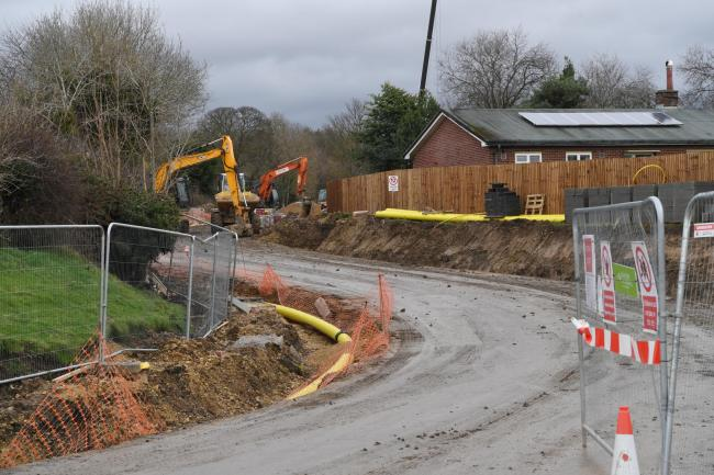Work on new homes in Corbridge, being constructed by Bellway North East, has begun.    Photo: HX511954