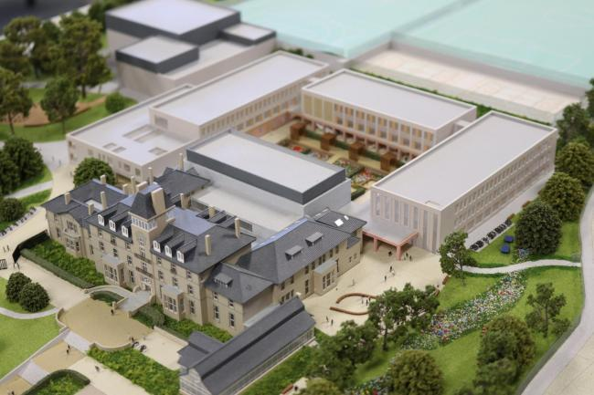 Design for new Queen Elizabeth High School and Hexham Middle School buildings.