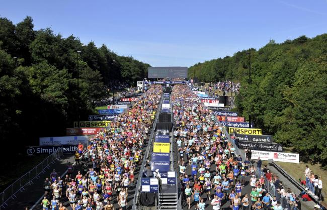 Runners at the start of last year's Great North Run.