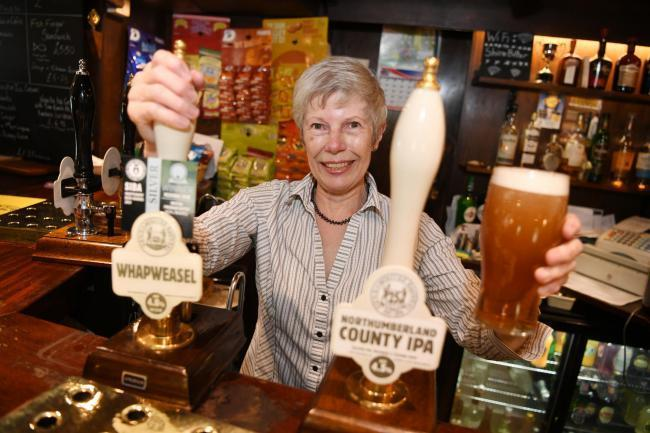 Janet Brooker at the Dipton Mill Inn, which has been named, value pub of the year in the Good Pub Guide 2020. 								Photo: HX271976