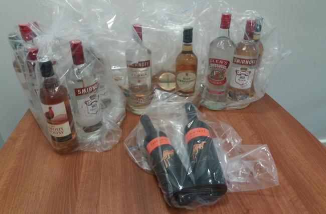 Illegal alcohol seized from shops in Northumberland.