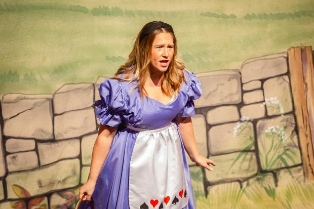 Leila Smith was Alice in the 27Up performance of Alice in Wonderland.   Photo: HELEN CARR-SMITH