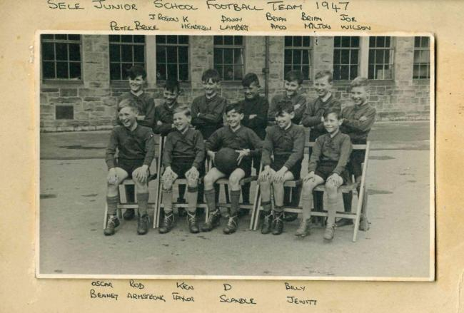 Hexham Sele Junior School football team, 1947. Photo: Peter Bruce