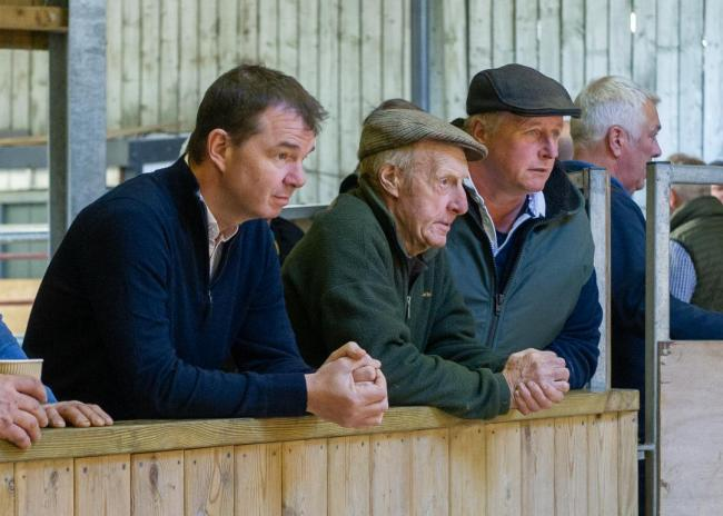 Hexham's MP Guy Opperman (left) joined farmers at Hexham Auction Mart in January.