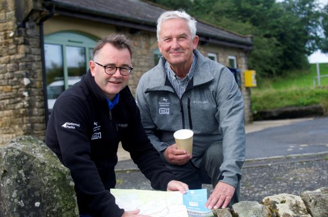 Director of Northumberland National Park Tony Gates with chairman of Northumberland National Park Authority Glen Sanderson.