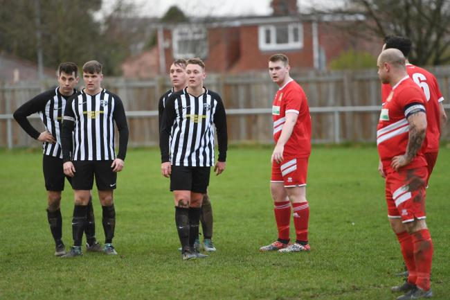 Gary Cook (second from left) was on target for Ponteland.
