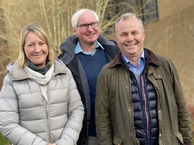 From the left, Lowri Potts, Roger Hancock and Neil Wilkinson have joined the board at Hexham Community Partnership.