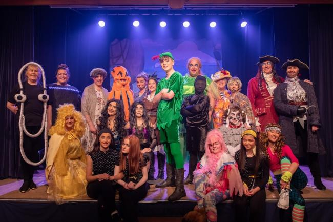 The cast of the 2020 Allendale Pantomime