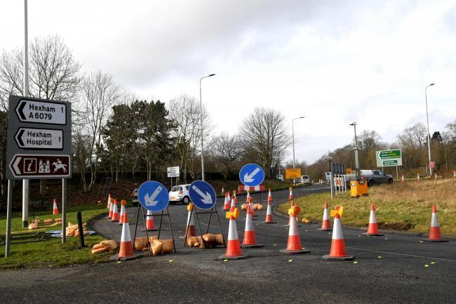 Work on the A69 roundabout at Hexham is to continue. Photo: HX052060