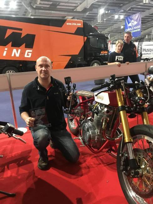 Motorbike maker revs his way to top prize at show