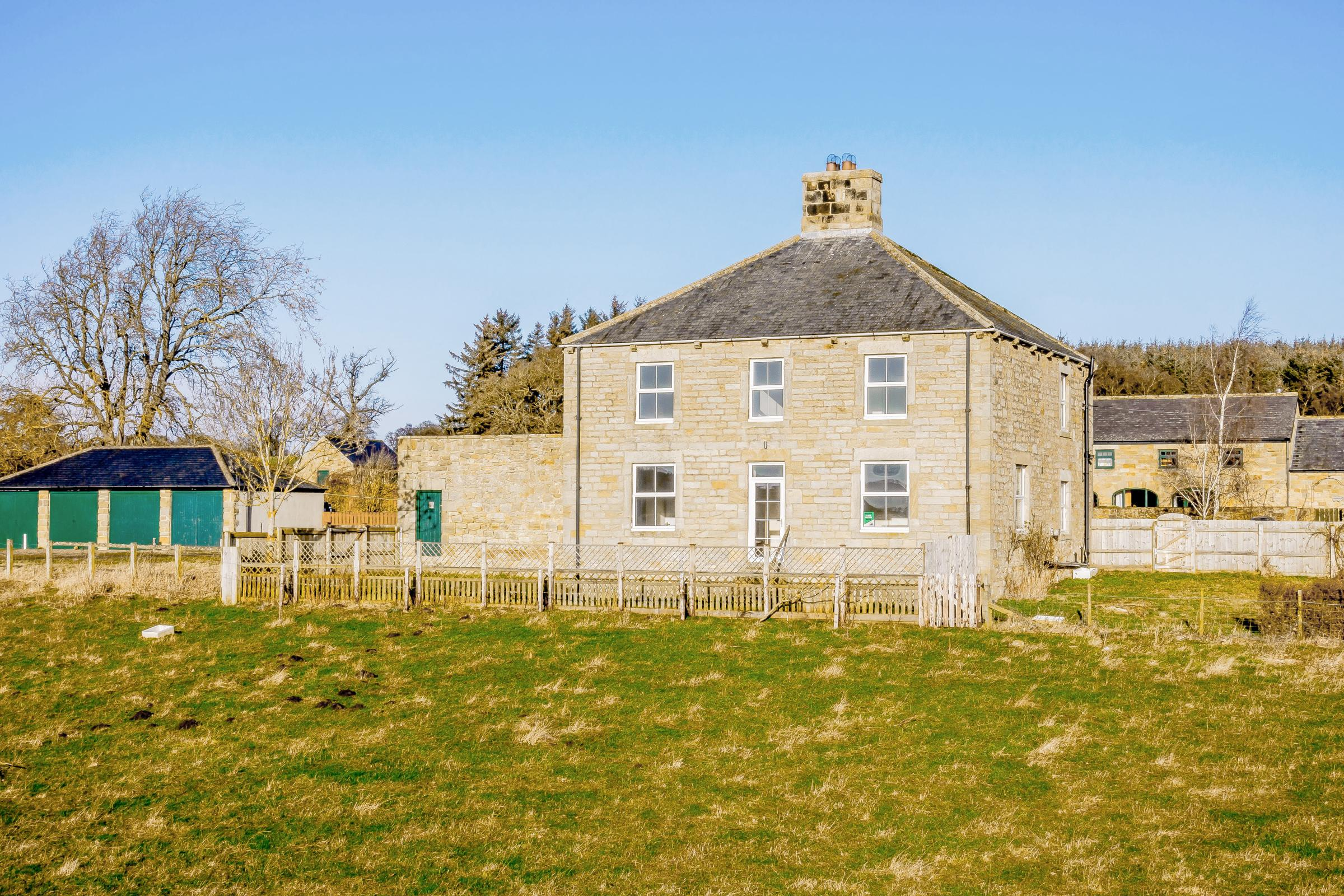 Gallowshaw Farmhouse has original details enhanced with a modern makeover and glorious views from almost every window